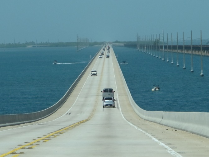 US1 Key West – Miami: Not a bad highway to get stuck on.